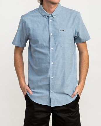 0 That'll Do Stretch Short Sleeve Shirt Blue MK515TDS RVCA
