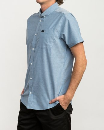 2 That'll Do Stretch Short Sleeve Shirt Blue MK515TDS RVCA
