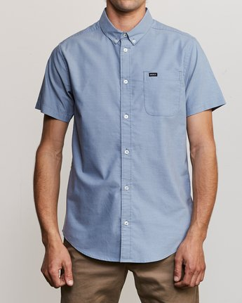 1 That'll Do Stretch Short Sleeve Shirt Blue MK515TDS RVCA