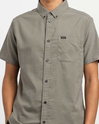 4 That'll Do Stretch Short Sleeve Shirt Brown MK515TDS RVCA