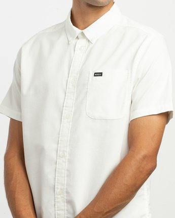 4 That'll Do Stretch Short Sleeve Shirt White MK515TDS RVCA
