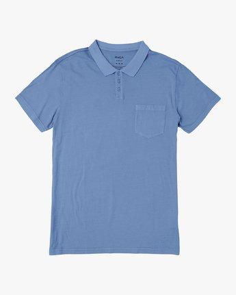 0 PTC Pigment Polo Shirt Blue MK908PPP RVCA