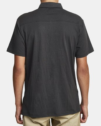 3 PTC Pigment Polo Shirt Black MK908PPP RVCA