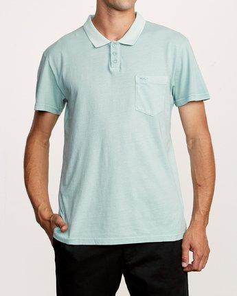 1 PTC Pigment Polo Shirt Blue MK908PPP RVCA