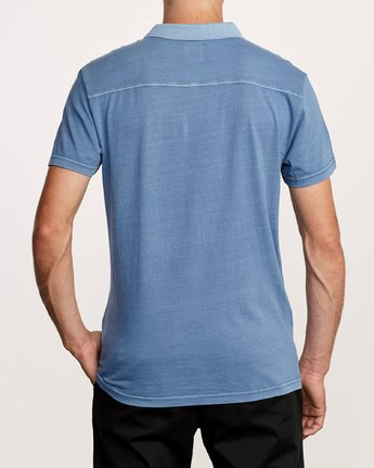 3 PTC Pigment Polo Shirt Blue MK908PPP RVCA