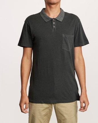 1 PTC Pigment Polo Shirt Black MK908PPP RVCA