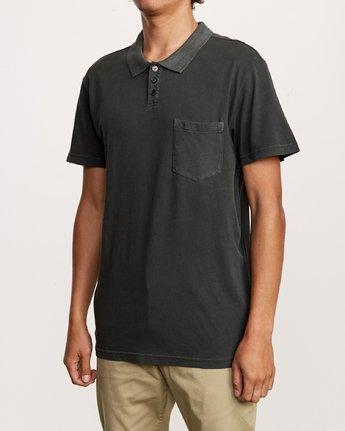 2 PTC Pigment Polo Shirt Black MK908PPP RVCA