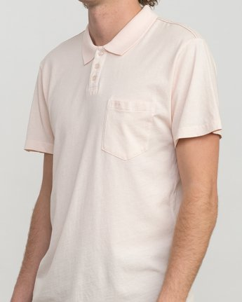 4 PTC Pigment Polo Shirt Pink MK908PPP RVCA