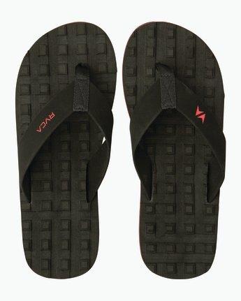 0 Astrodeck Sandal Black MKASPADS RVCA