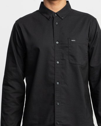 4 That'll Do Stretch Long Sleeve Shirt Black ML501TSL RVCA