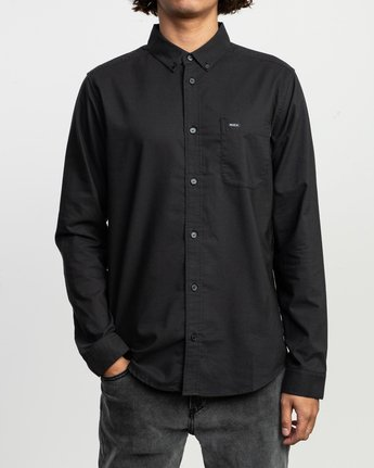 1 That'll Do Stretch Long Sleeve Shirt Black ML501TSL RVCA