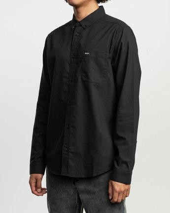 2 That'll Do Stretch Long Sleeve Shirt Black ML501TSL RVCA