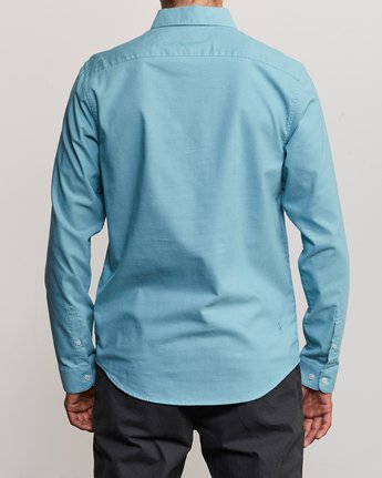3 That'll Do Stretch Long Sleeve Shirt Blue ML501TSL RVCA