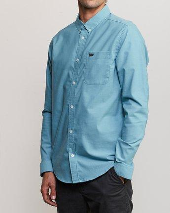 2 That'll Do Stretch Long Sleeve Shirt Blue ML501TSL RVCA