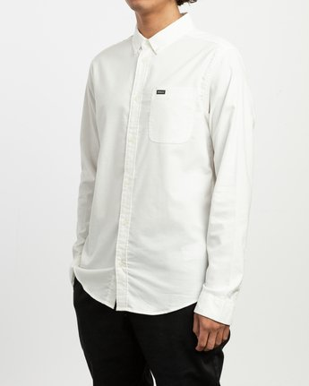 2 That'll Do Stretch Long Sleeve Shirt White ML501TSL RVCA