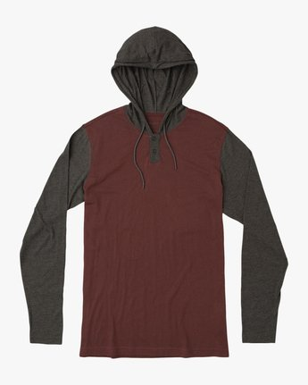 0 Pick Up Hooded Knit Shirt Red ML916PIH RVCA