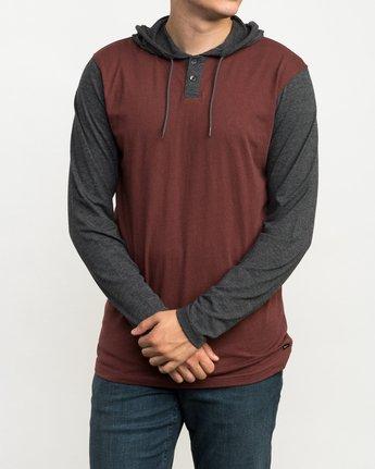 2 Pick Up Hooded Knit Shirt Red ML916PIH RVCA