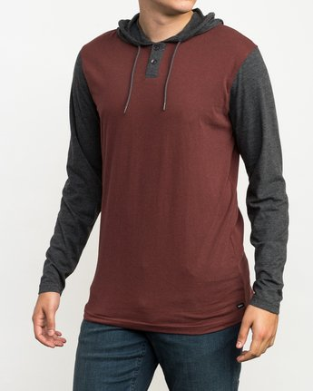 3 Pick Up Hooded Knit Shirt Red ML916PIH RVCA