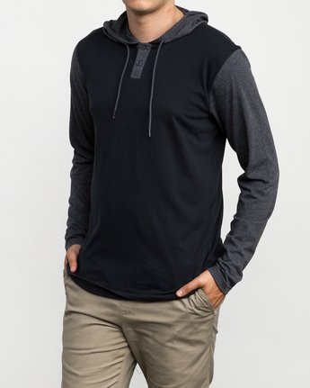 2 Pick Up Hooded Knit Shirt Blue ML916PIH RVCA