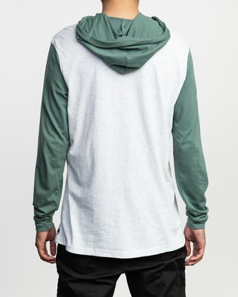 3 Pick Up Hooded Knit Shirt Green ML916PIH RVCA