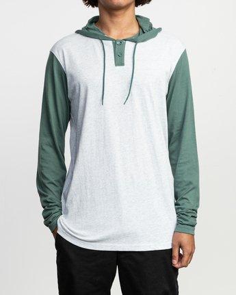 1 Pick Up Hooded Knit Shirt Green ML916PIH RVCA