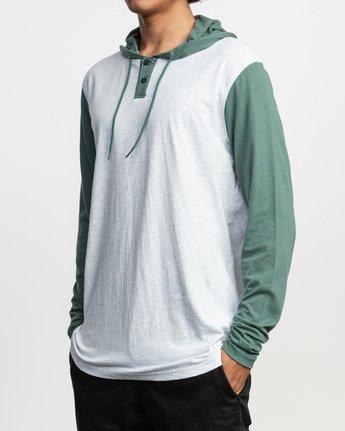2 Pick Up Hooded Knit Shirt Green ML916PIH RVCA