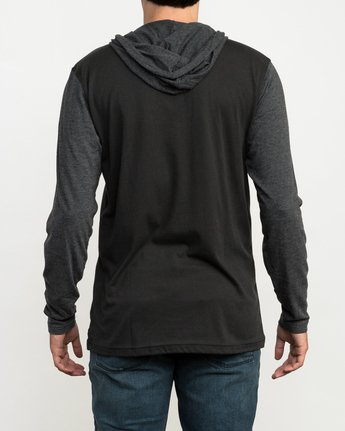 3 Pick Up Hooded Knit Shirt Black ML916PIH RVCA
