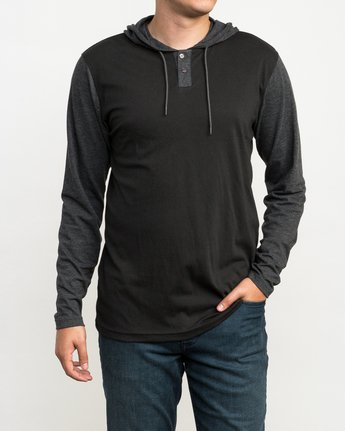 1 Pick Up Hooded Knit Shirt Black ML916PIH RVCA
