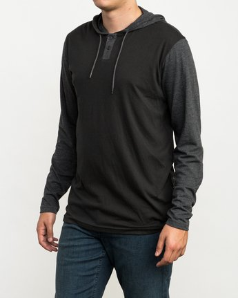 2 Pick Up Hooded Knit Shirt Black ML916PIH RVCA