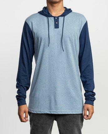 1 Pick Up Hooded Knit Shirt Blue ML916PIH RVCA