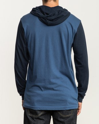 3 Pick Up Hooded Knit Shirt Blue ML916PIH RVCA