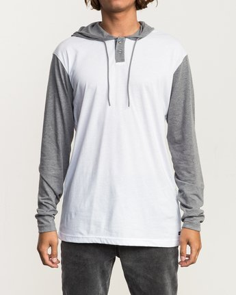 1 Pick Up Hooded Knit Shirt White ML916PIH RVCA