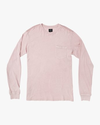 0 PTC Pigment Long Sleeve T-Shirt Pink ML921PPL RVCA