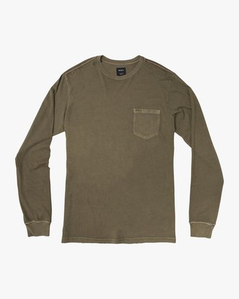 0 PTC Pigment Long Sleeve T-Shirt Green ML921PPL RVCA