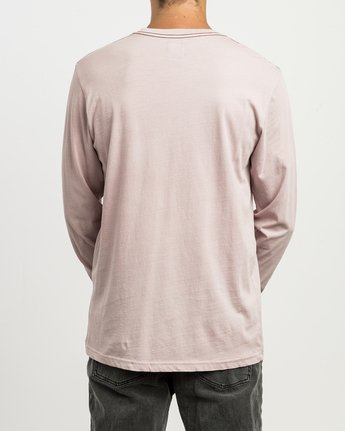 3 PTC Pigment Long Sleeve T-Shirt Pink ML921PPL RVCA