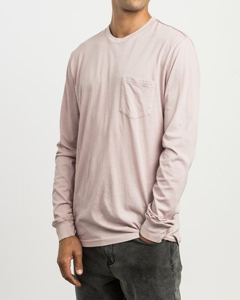 2 PTC Pigment Long Sleeve T-Shirt Pink ML921PPL RVCA