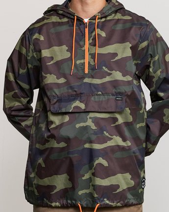 4 Islands Public Works Packable Jacket Orange MM701IPW RVCA