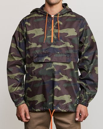 1 Islands Public Works Packable Jacket Orange MM701IPW RVCA