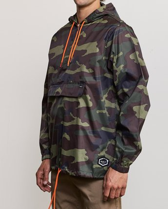 2 Islands Public Works Packable Jacket Orange MM701IPW RVCA