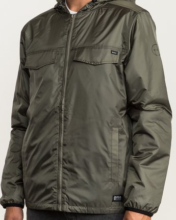 6 Tracer Jacket Green MM702TRA RVCA