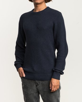 2 Dispatch Knit Sweater Blue MV01QRDS RVCA