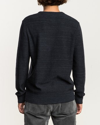 4 Man Up Sweater Black MV01QRMU RVCA