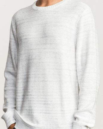 4 Man Up Sweater White MV01QRMU RVCA
