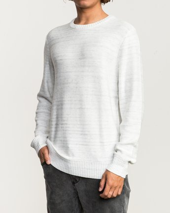 2 Man Up Sweater White MV01QRMU RVCA