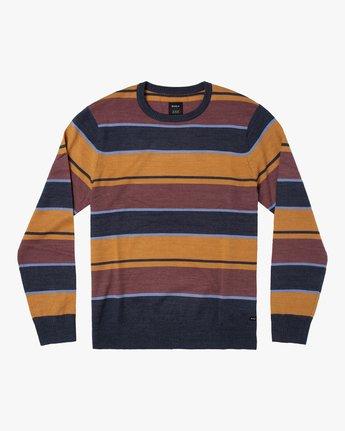 1 ALEX STRIPE CREW sweater Blue MV313RAL RVCA