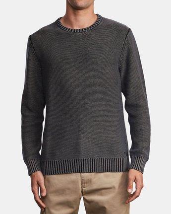 1 Cal Stone Washed Sweater Black MV33WRCA RVCA