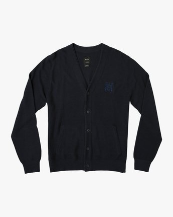 0 Cali Button-Up Cardigan Blue MV40SRCC RVCA
