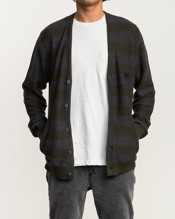 2 Cali Button-Up Cardigan Camo MV40SRCC RVCA