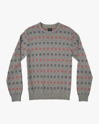0 Mini Jacquard Sweater Grey MV41SRMJ RVCA