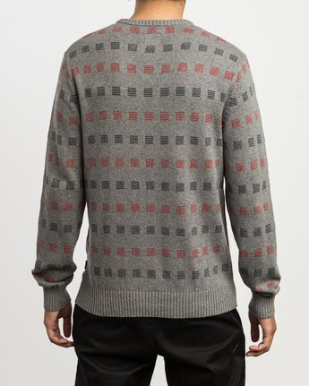 3 Mini Jacquard Sweater Grey MV41SRMJ RVCA